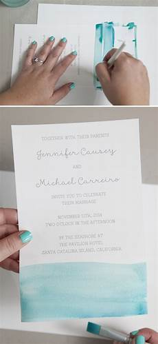 Watercolor Wedding Invitations Diy learn exactly how to diy watercolor wedding invitations