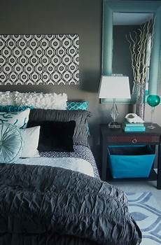 Aqua And Grey Bedroom Ideas by Gray And Turquoise Bedroom Contemporary Bedroom