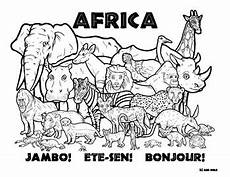 Ausmalbilder Tiere Afrika Africa Wildlife Coloring Page By Clark Creative Science