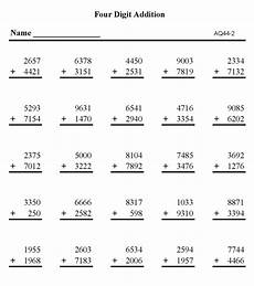subtraction worksheets difficult 10043 bluebonkers free printable math addition sheets addition 4 digit numbers p2