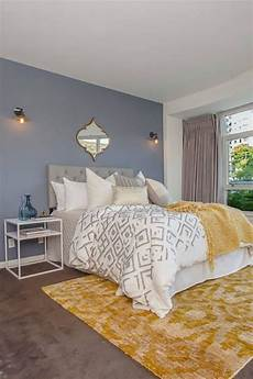 Yellow Grey And Blue Bedroom Ideas by Room Redo Modern Yellow Accent Bedroom In 2019 Bedroom