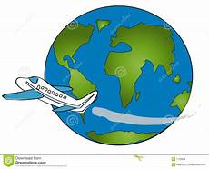 Reise Um Die Welt Stock Abbildung Illustration