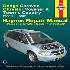 free car repair manuals 2007 dodge grand caravan user handbook dodge caravan chrysler voyager and town country automotive repair manual 2003 thru 2007