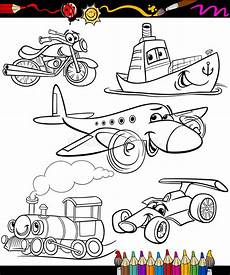 coloring pages for vehicles 16432 transport set for coloring book stock vector illustration of happy coloring 37777608