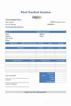 pest receipt template free excel template