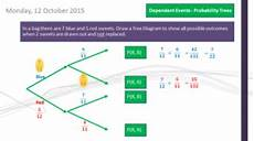 probability diagram worksheets 5746 probability tree diagrams dependent events gcse mathematics 1 9 teaching resources