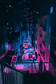Neon Retro Cyberpunk Wallpaper by Steve Roe S Vaporwave Aesthetic Captures A Cyberpunk Urbanism