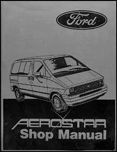 service manuals schematics 1986 ford f series engine control 1986 ford aerostar original repair shop manual