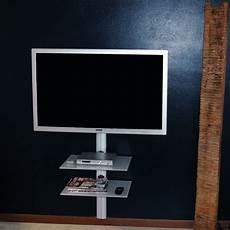 porta tv a muro con mensola staffa supporto tv verticale con mensole per lcd led