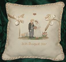 wedding ring pillow cross stitch kit cross stitch wedding ring cushion