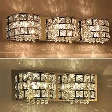 crystal bathroom vanity light fixtures modern crystal mirror vanity wall light l bathroom decor fixture lighting ebay