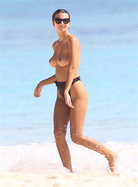 Emily Ratajkowski Topless Beach
