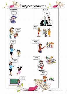 subject personal pronouns english esl worksheets