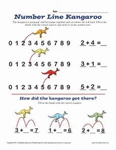number line kangaroo math worksheets