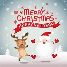 merry christmas and happy new year santa claus and rudolph stock vector 169 sungchul77 58127017