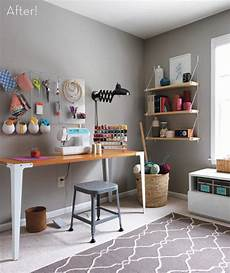 before after a fresh and functional craft room makeover