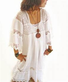 white mexican natural maxi vintage excellent condition hippie chic bohemian