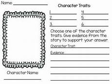 print character worksheets 19313 character traits worksheet with evidence from the text freebie teaching ideas teaching