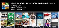 4 Pics 1 Word Answers List With Pictures Iplay My
