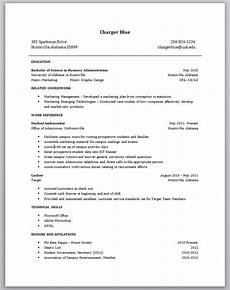 resume for students with no experience planner template free