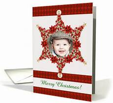 merry christmas photo star add your photo and custom text card