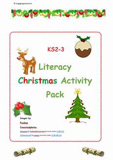 christmas activity ks2 and ks3 english and literacy by engagingresources teaching
