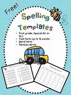 ela worksheets 15480 spelling templates special ed ell grade free by school bells n whistles