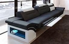 couch 3 sitzer modernes sofa monza als 3 sitzer couch mit beleuchtung