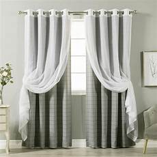 home fashion gardinen best home fashion 84 in l umixm tulle and grey checkered