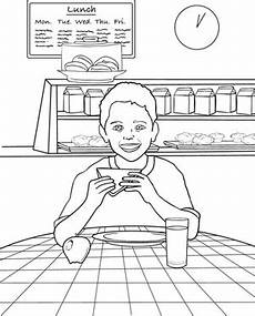 places in the school coloring pages 18035 lunchtime worksheet education