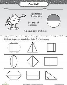 fraction worksheets kinder 3991 fraction frenzy one half worksheets math and kindergarten