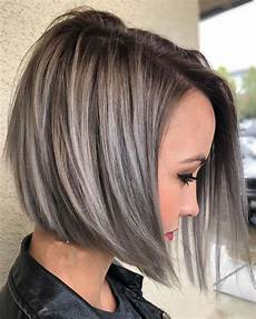 asymmetrical short haircuts with balayage highlights 2018 2019 hairstyles