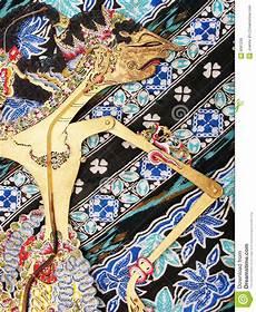 Wayang Kulit Puppet On Batik Stock Image Image 6061239