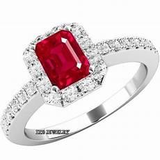 womens 14k white gold ruby diamond engagement ring wedding band ebay