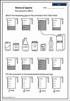volume and capacity worksheet homeschool stuff ks1