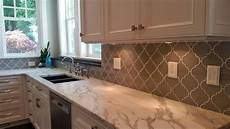 Glass Mosaic Kitchen Backsplash Arabesque Glass Mosaic Tile Backsplash Traditional