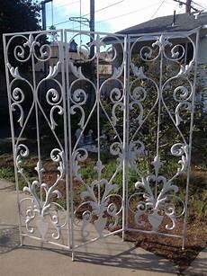 Garten Paravent Metall - vintage wrought iron metal tri fold garden screen room
