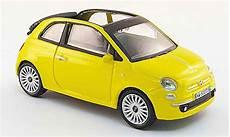 fiat 500 miniature c cabriolet jaune 2009 mondo motors 1