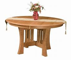 amish dining table arts crafts mission base solid