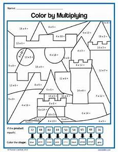 multiplication color by number worksheets 4th grade 16335 color by number fourth grade color by multiplication and rounding