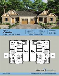 multi family house plans duplex camden multi family cottage house plan with images
