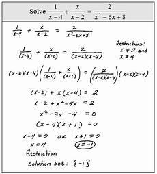 openalgebra com solving rational equations