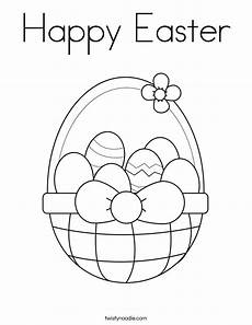 happy easter coloring page twisty noodle