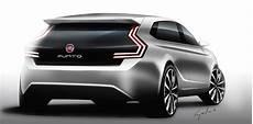 2017 Fiat Punto 5 Door Concept Rear Three Quarters Rendering