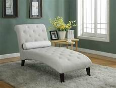 Beige Fabric Chaise Lounge Sofa Seat Living Room