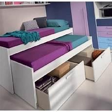 lits chambre literie lit gigogne loopy avec 2 tiroirs