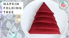 napkin folding tutorial tree napkin fold