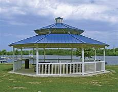 all steel double roof santa fe octagon pavilions pavilions by shape gazebocreations com
