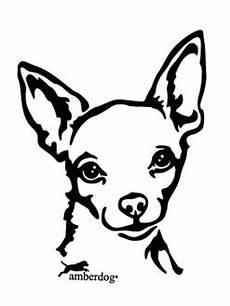Malvorlage Silhouette Hund Chihuahua Chihuahua Autoaufkleber Kopf Hunde Shop