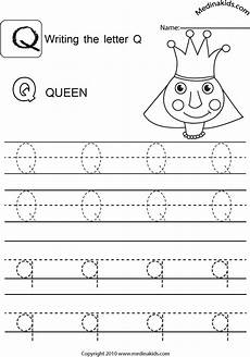 letter tracing worksheets q 23275 medinakids learn write and lower letters practice letter q